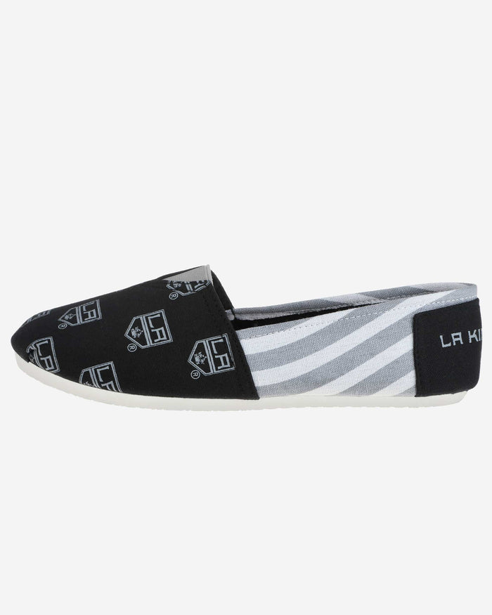Los Angeles Kings Womens Stripe Canvas Shoe FOCO - FOCO.com