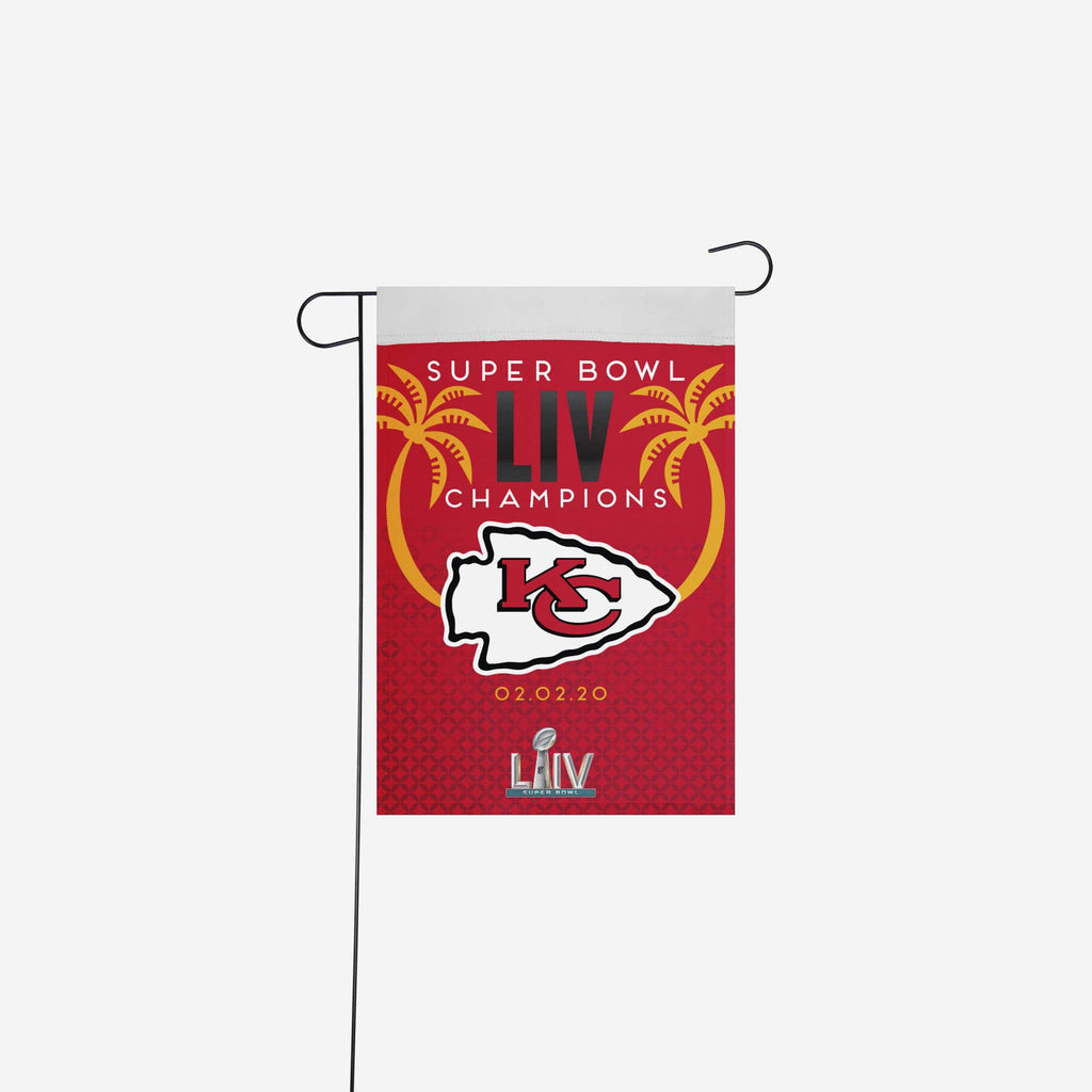 Kansas City Chiefs Super Bowl LIV Champions Garden Flag FOCO - FOCO.com