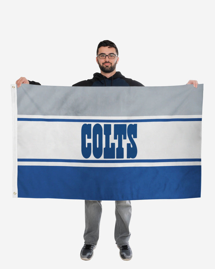 Indianapolis Colts Horizontal Flag FOCO - FOCO.com