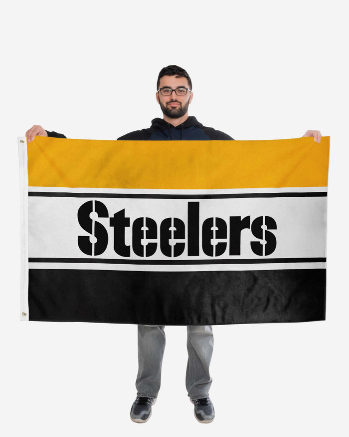 Pittsburgh Steelers Horizontal Flag FOCO - FOCO.com