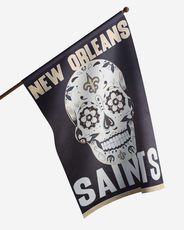 New Orleans Saints Day Of The Dead Vertical Flag FOCO - FOCO.com