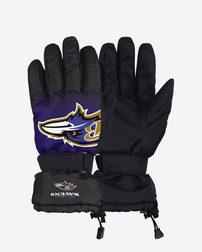 Baltimore Ravens Big Logo Insulated Gloves FOCO S/M - FOCO.com