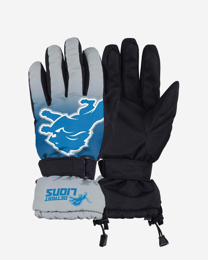 Detroit Lions Big Logo Insulated Gloves FOCO S/M - FOCO.com