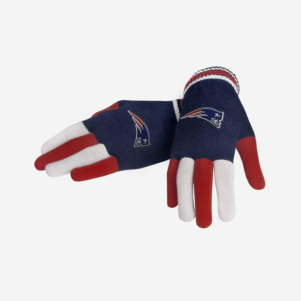 New England Patriots Multi Color Knit Glove
