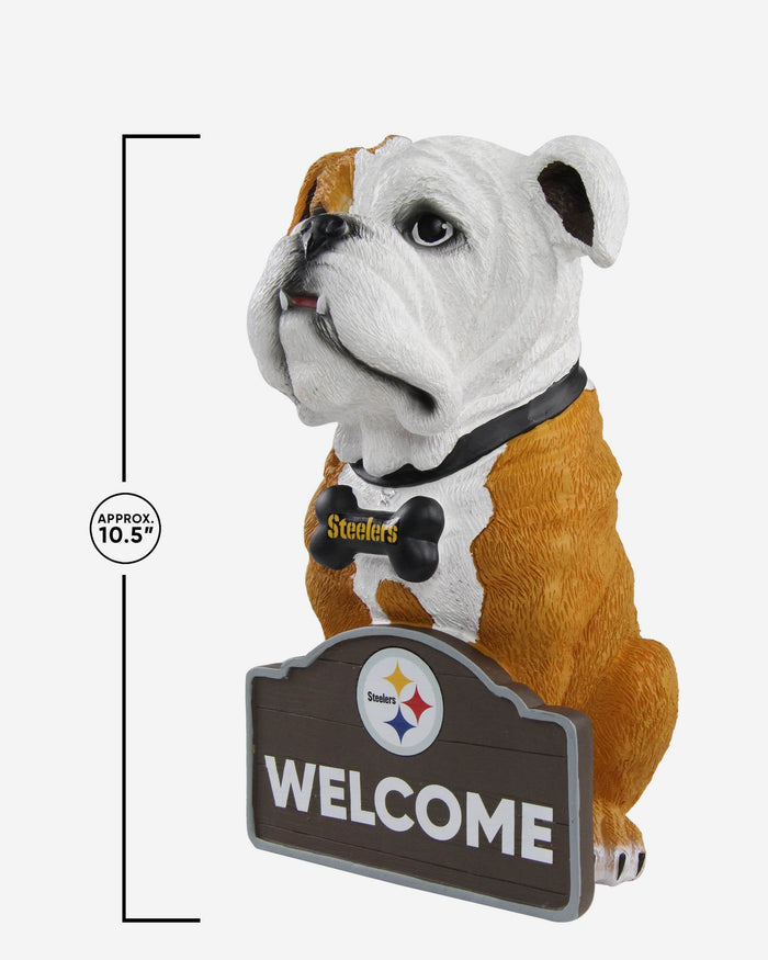 Pittsburgh Steelers Bulldog Statue FOCO - FOCO.com