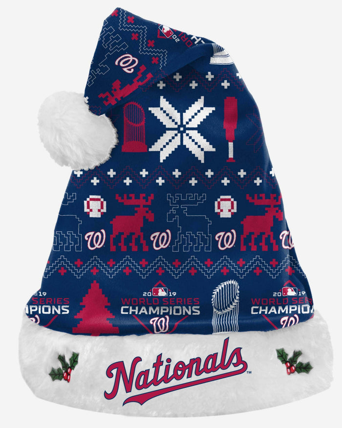 Washington Nationals 2019 World Series Champions Santa Hat FOCO - FOCO.com