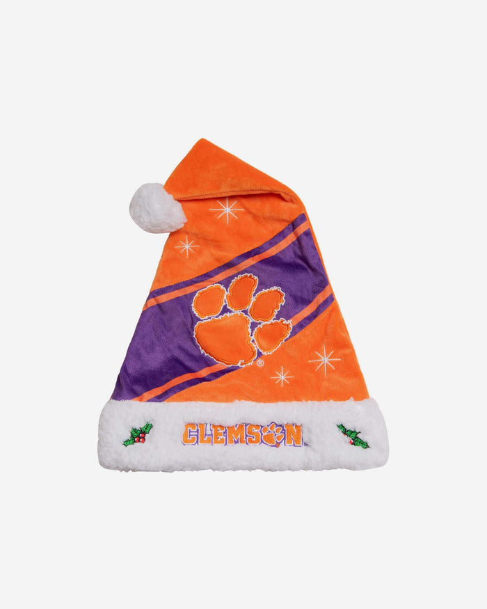 Clemson Tigers High End Santa Hat FOCO - FOCO.com