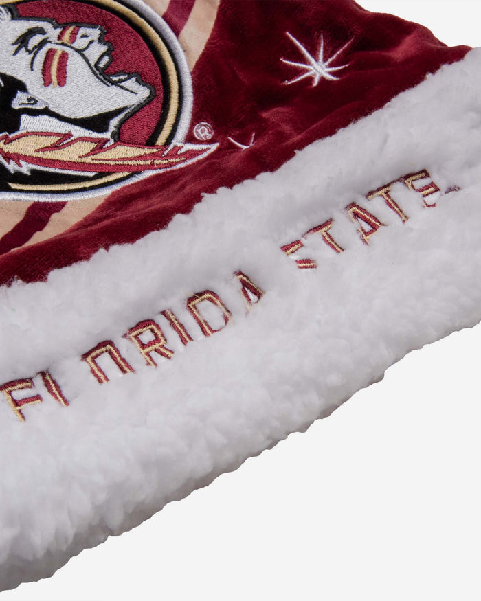 Florida State Seminoles High End Santa Hat FOCO - FOCO.com