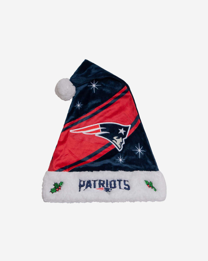 New England Patriots High End Santa Hat FOCO - FOCO.com