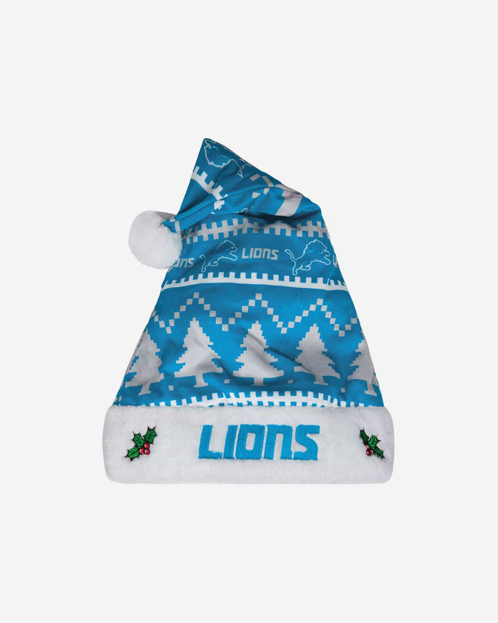 Detroit Lions Family Holiday Santa Hat FOCO - FOCO.com