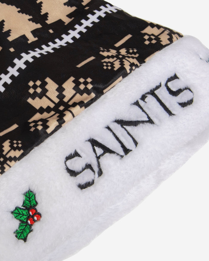 New Orleans Saints Family Holiday Santa Hat FOCO - FOCO.com