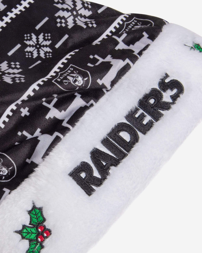 Las Vegas Raiders Family Holiday Santa Hat FOCO - FOCO.com