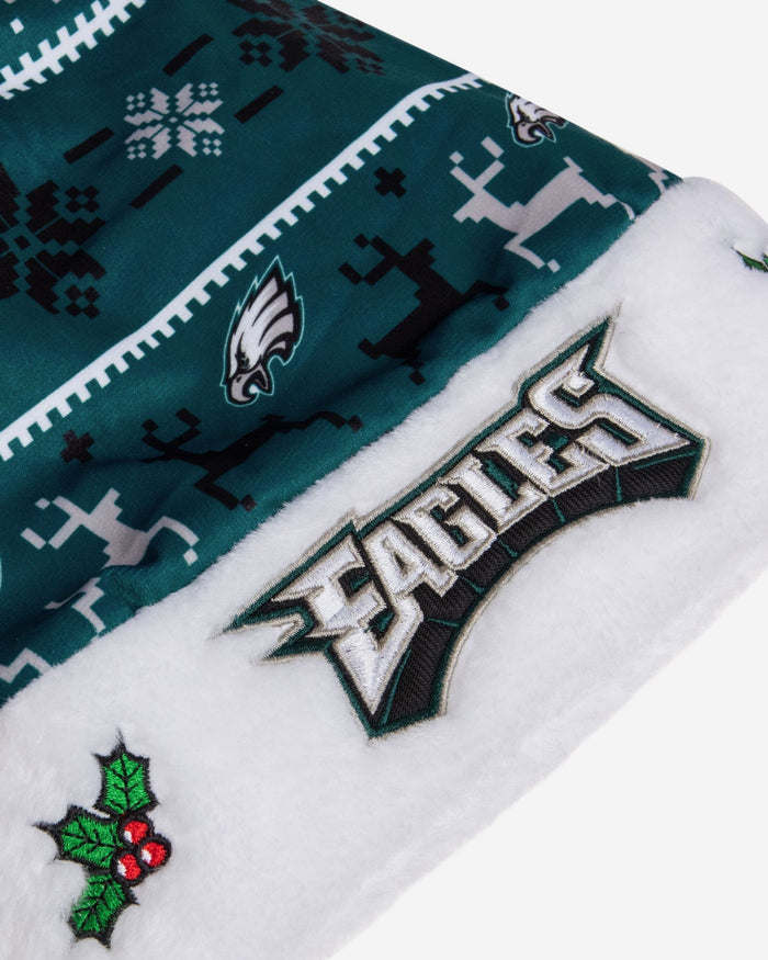 Philadelphia Eagles Family Holiday Santa Hat FOCO - FOCO.com