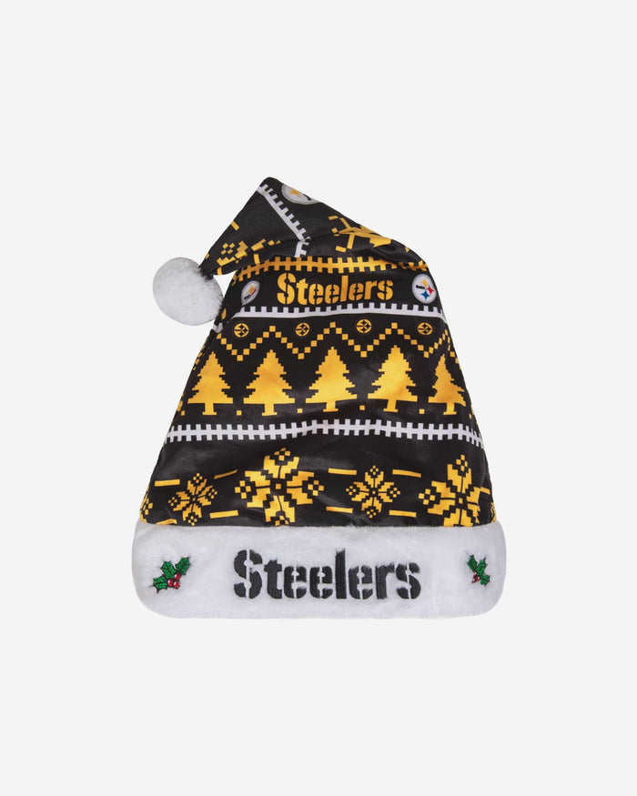 Pittsburgh Steelers Family Holiday Santa Hat FOCO - FOCO.com
