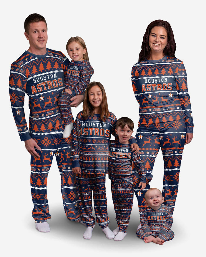 Houston Astros Infant Family Holiday Pajamas FOCO - FOCO.com