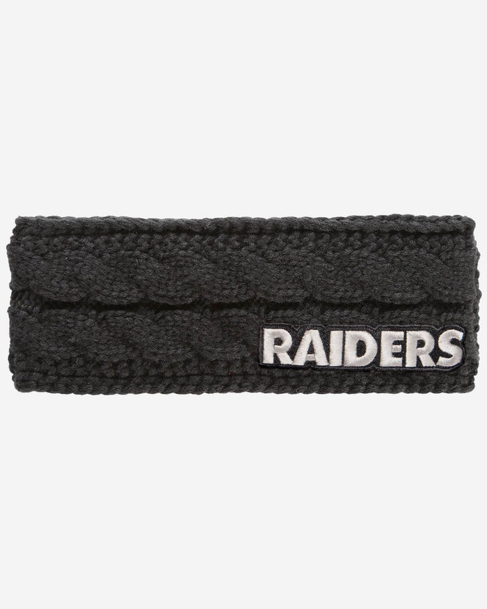 Oakland Raiders Womens Knit Fit Headband FOCO - FOCO.com