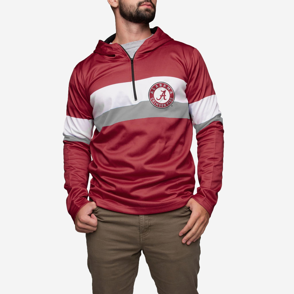 Alabama Crimson Tide Quarter Zip Hoodie FOCO - FOCO.com