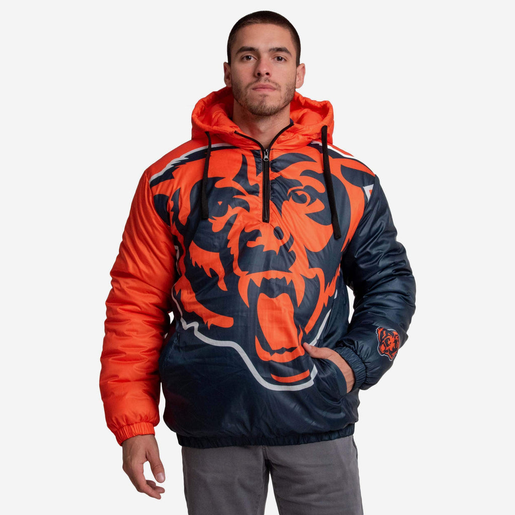 Chicago Bears Tundra Puffy Poly Fill Pullover FOCO S - FOCO.com