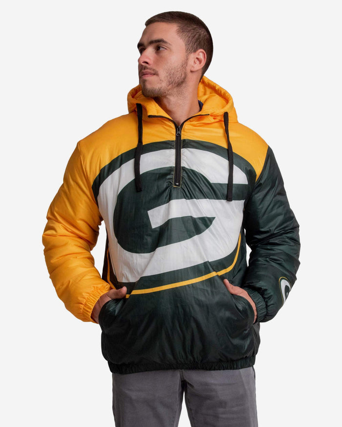 Green Bay Packers Tundra Puffy Poly Fill Pullover FOCO S - FOCO.com
