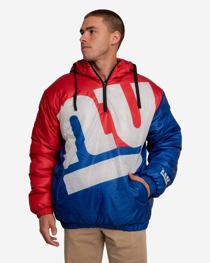 New York Giants Tundra Puffy Poly Fill Pullover FOCO S - FOCO.com