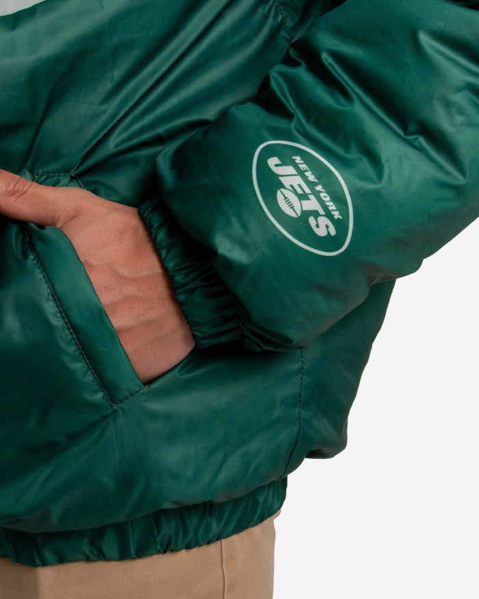 New York Jets Tundra Puffy Poly Fill Pullover FOCO - FOCO.com