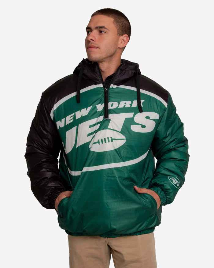 New York Jets Tundra Puffy Poly Fill Pullover FOCO S - FOCO.com