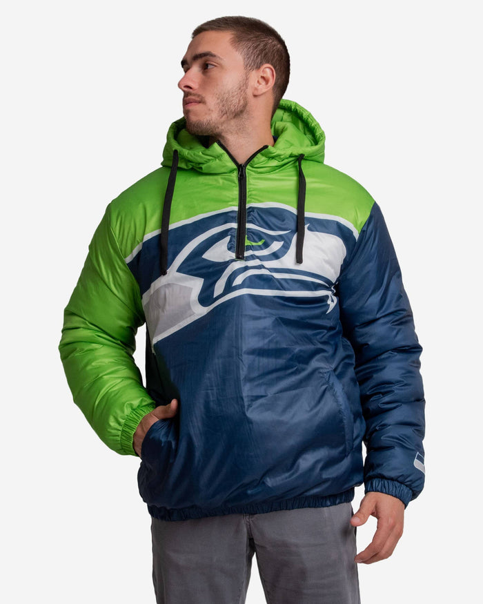 Seattle Seahawks Tundra Puffy Poly Fill Pullover FOCO - FOCO.com
