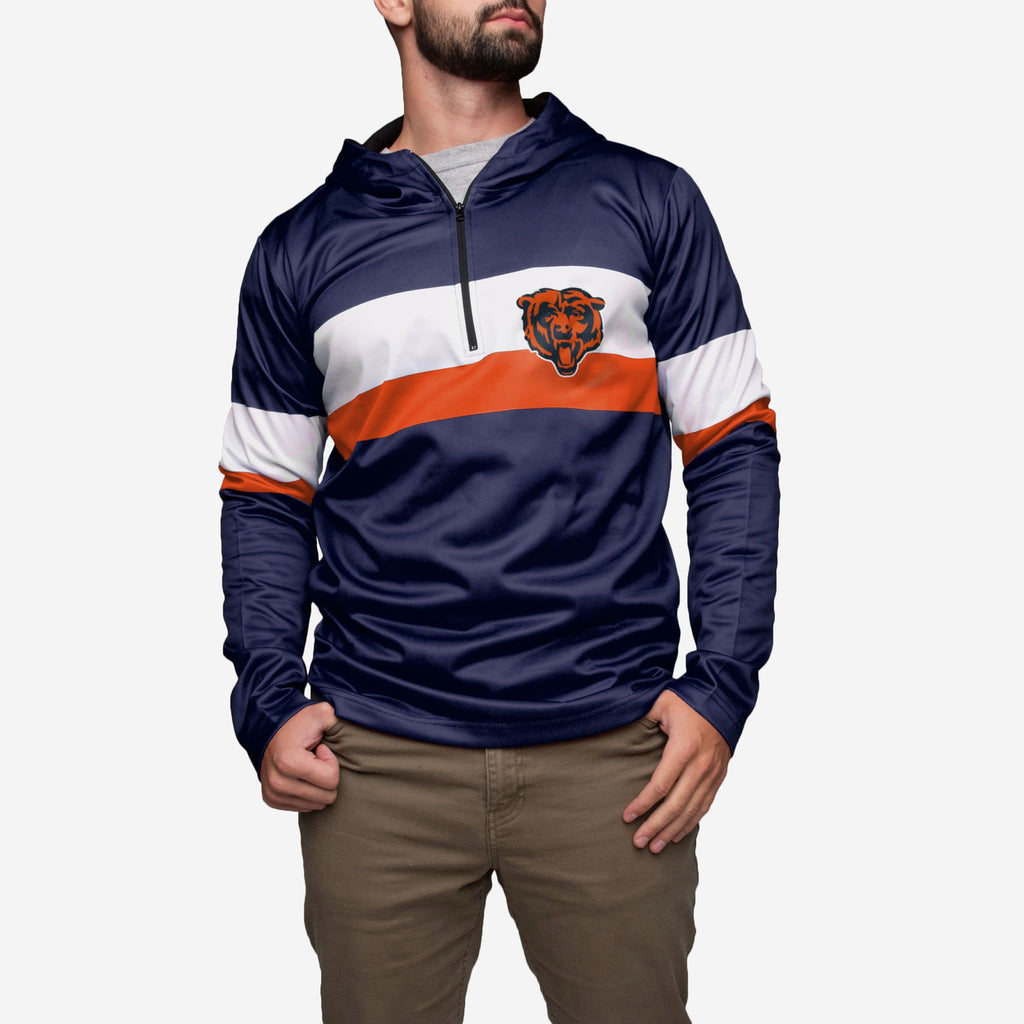 Chicago Bears Quarter Zip Hoodie FOCO - FOCO.com