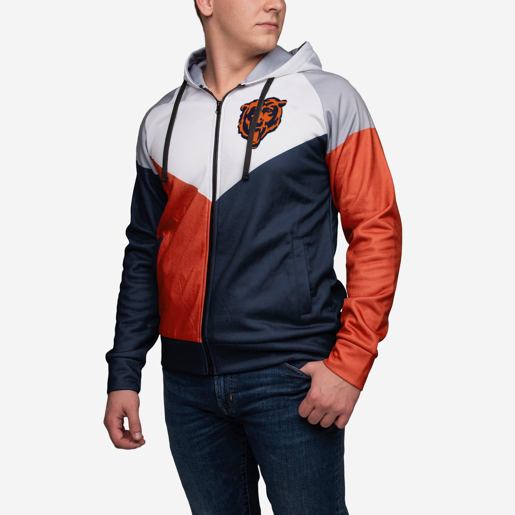 Chicago Bears Hooded Track Jacket FOCO - FOCO.com