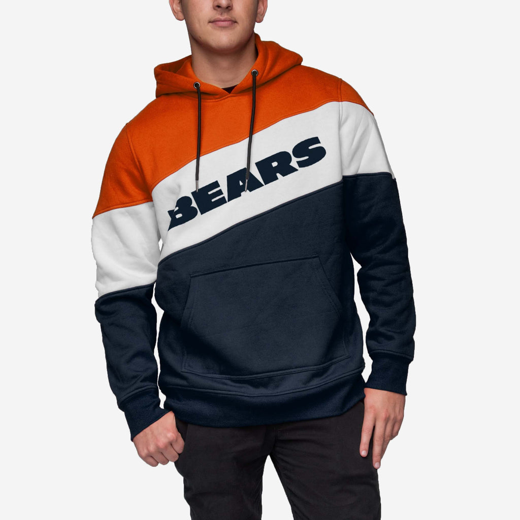 Chicago Bears Wordmark Colorblock Hoodie FOCO - FOCO.com