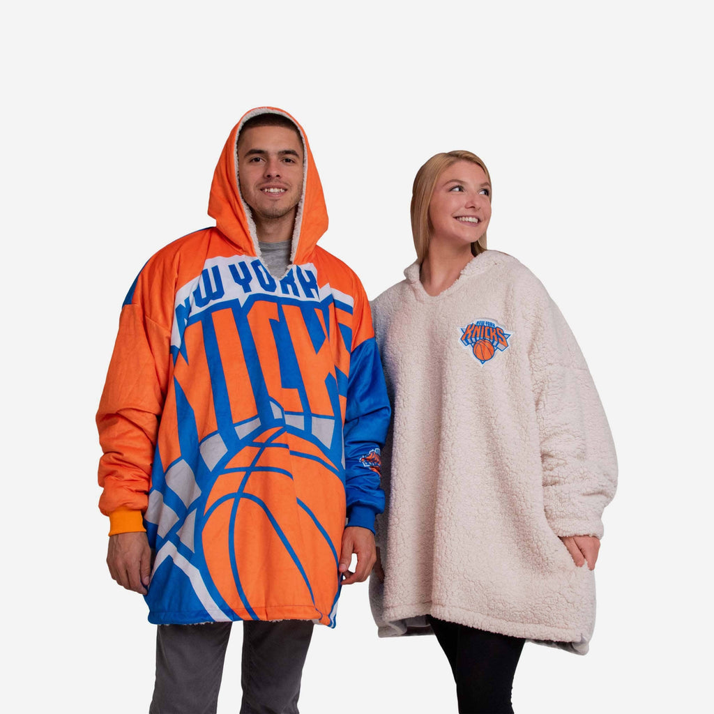 New York Knicks Reversible Colorblock Hoodeez FOCO - FOCO.com