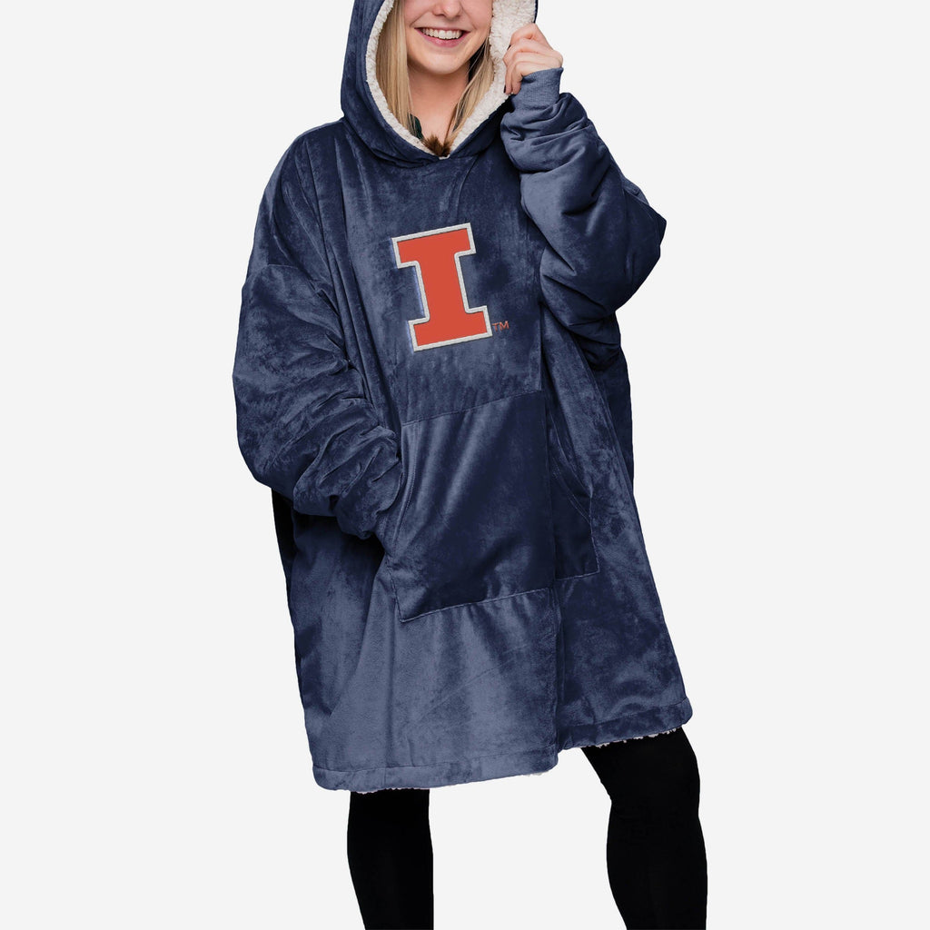Illinois Fighting Illini Reversible Big Logo Hoodeez