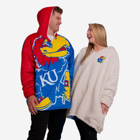 Kansas Jayhawks Reversible Colorblock Hoodeez