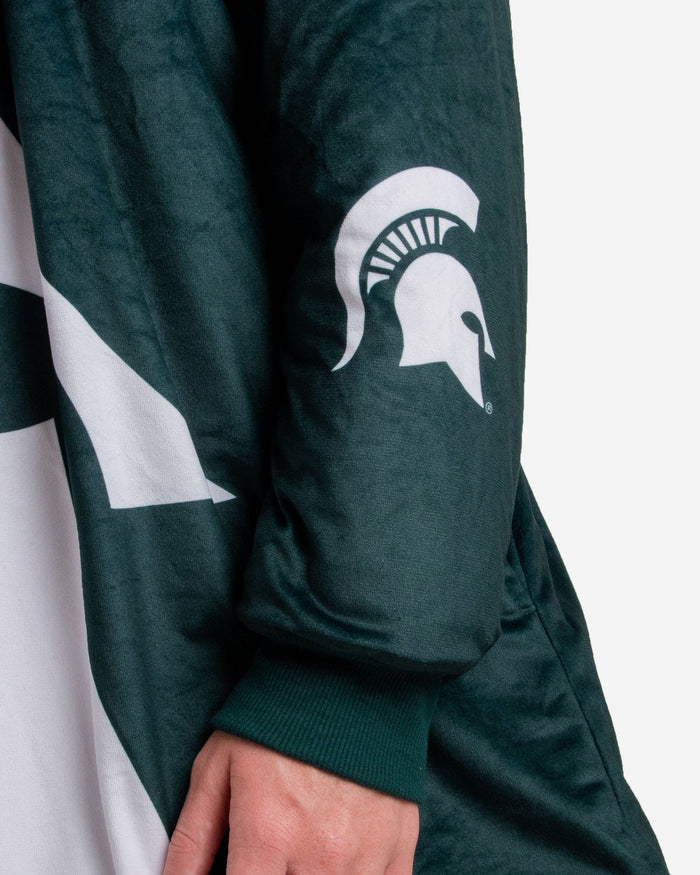 Michigan State Spartans Reversible Colorblock Hoodeez FOCO - FOCO.com