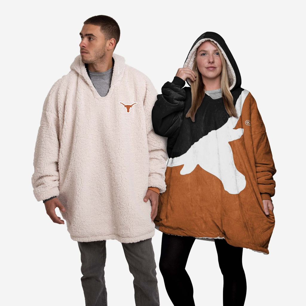 Texas Longhorns Reversible Colorblock Hoodeez FOCO - FOCO.com