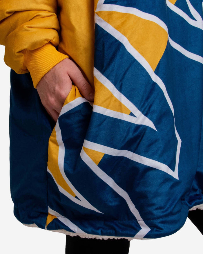 West Virginia Mountaineers Reversible Colorblock Hoodeez FOCO - FOCO.com