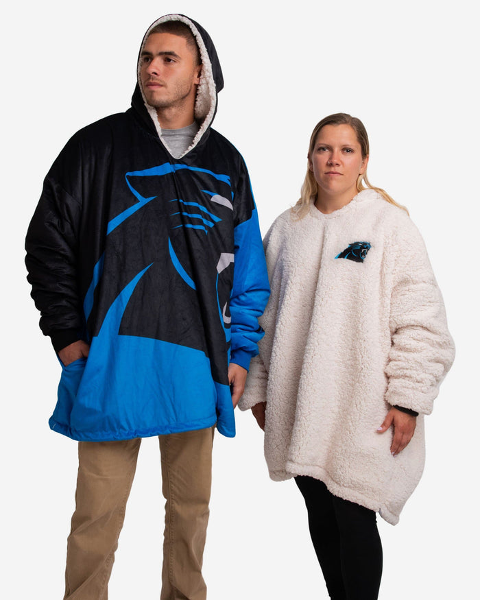 Carolina Panthers Reversible Colorblock Hoodeez FOCO - FOCO.com