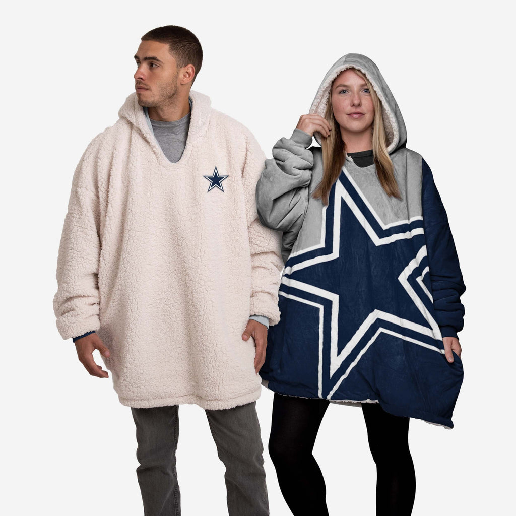 Dallas Cowboys Reversible Colorblock Hoodeez FOCO - FOCO.com