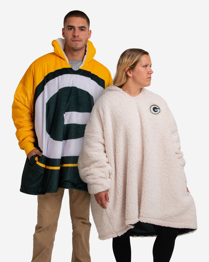 Green Bay Packers Reversible Colorblock Hoodeez FOCO - FOCO.com