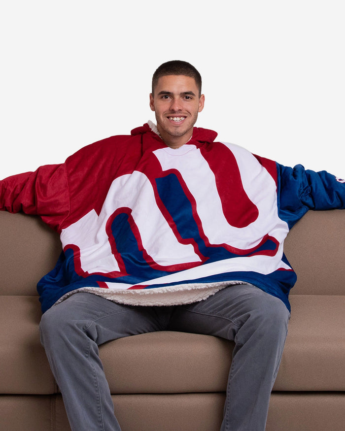 New York Giants Reversible Colorblock Hoodeez FOCO - FOCO.com