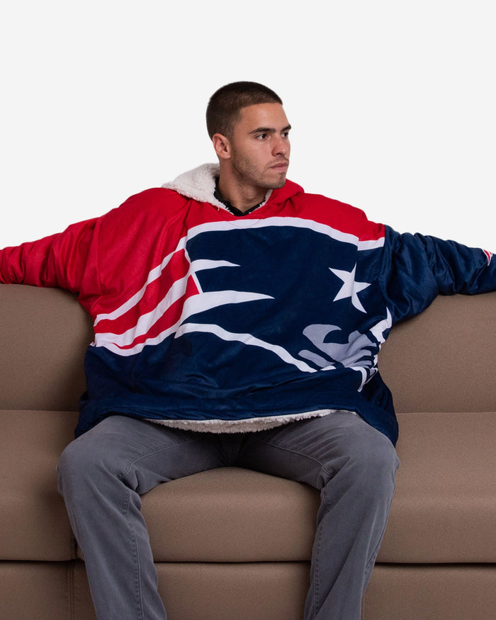 New England Patriots Reversible Colorblock Hoodeez FOCO - FOCO.com