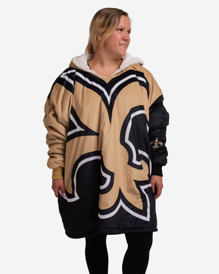 New Orleans Saints Reversible Colorblock Hoodeez FOCO - FOCO.com