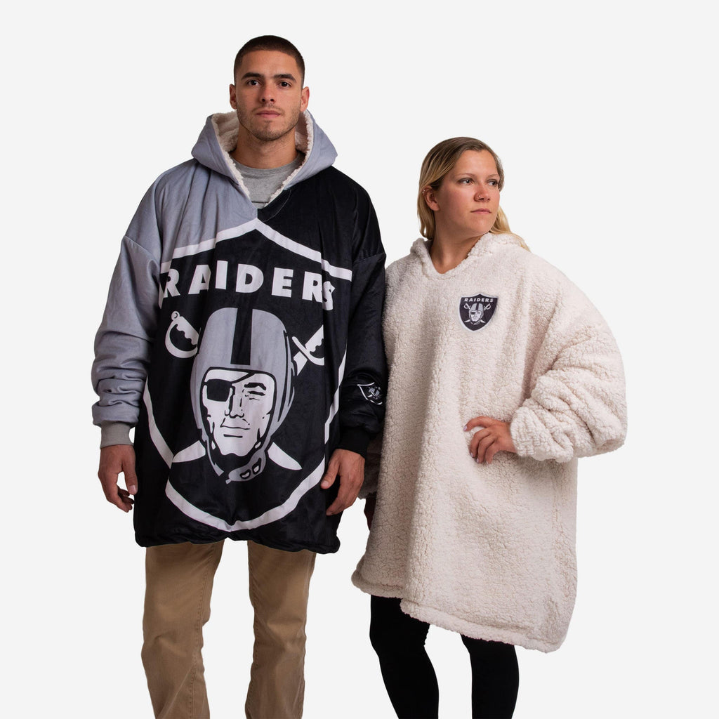 Oakland Raiders Reversible Colorblock Hoodeez FOCO - FOCO.com