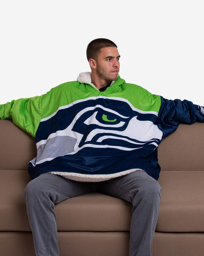Seattle Seahawks Reversible Colorblock Hoodeez FOCO - FOCO.com
