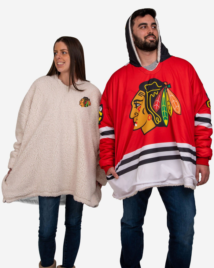Chicago Blackhawks Reversible Gameday Hoodeez FOCO - FOCO.com