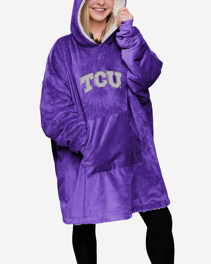 TCU Horned Frogs Reversible Big Logo Hoodeez FOCO - FOCO.com