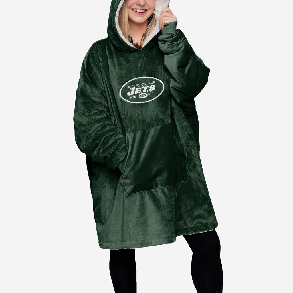 New York Jets Reversible Big Logo Hoodeez FOCO - FOCO.com
