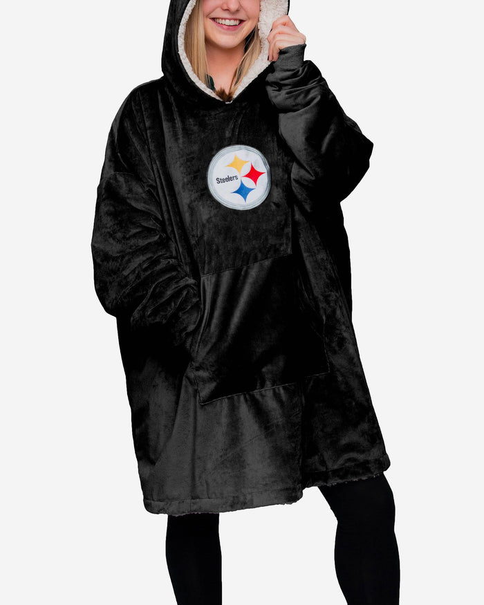 low priced 72229 25bf2 Pittsburgh Steelers Reversible Big Logo Hoodeez