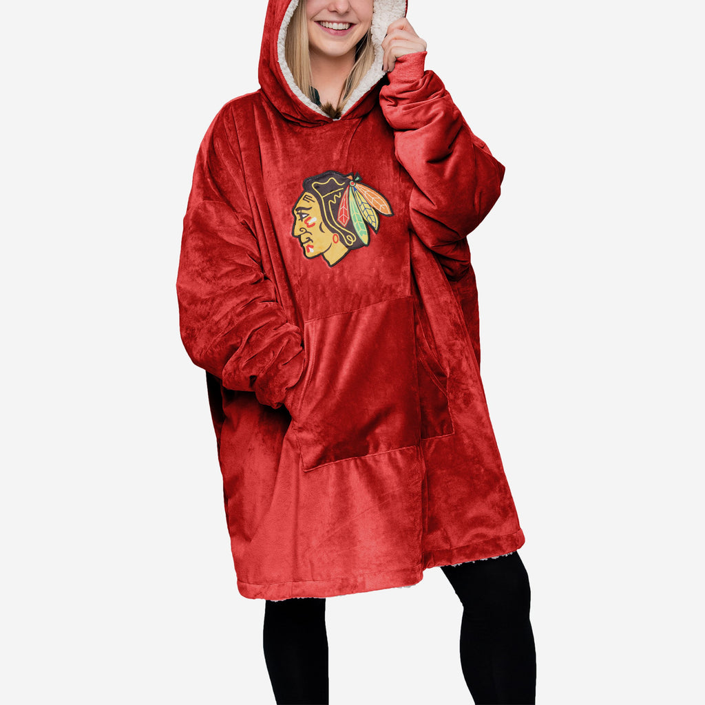 Chicago Blackhawks Reversible Big Logo Hoodeez