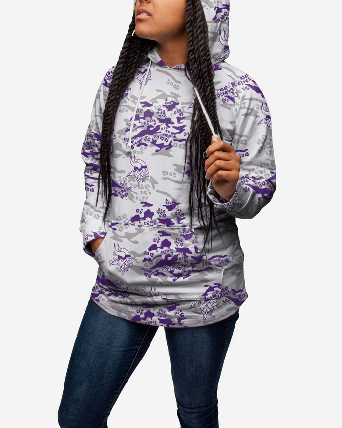 competitive price baa77 456c9 Minnesota Vikings Womens Leopard Camo Hoodie